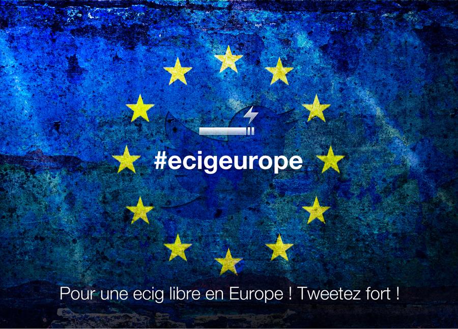 Bannière pour la cigarette electronique en Europe
