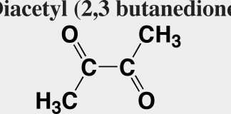 Molécule Diacétyle
