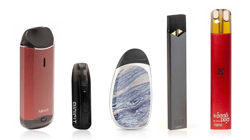 Comparatif : cinq pods au banc d'essai - Cigarette electronique
