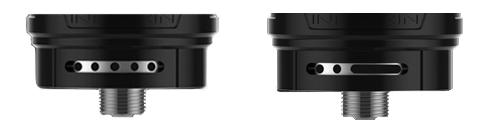 Les airflows du Zenith Pro permettent désormais le tirage direct ou tirage chicha.