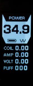 Le mode Power est le plus simple et le plus utilisé : on modifie la puissance selon la valeur du coil monté.