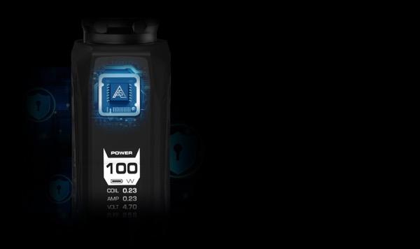 Le chipset de l'Aegis Max est le fameux AS-100 de Geekvape