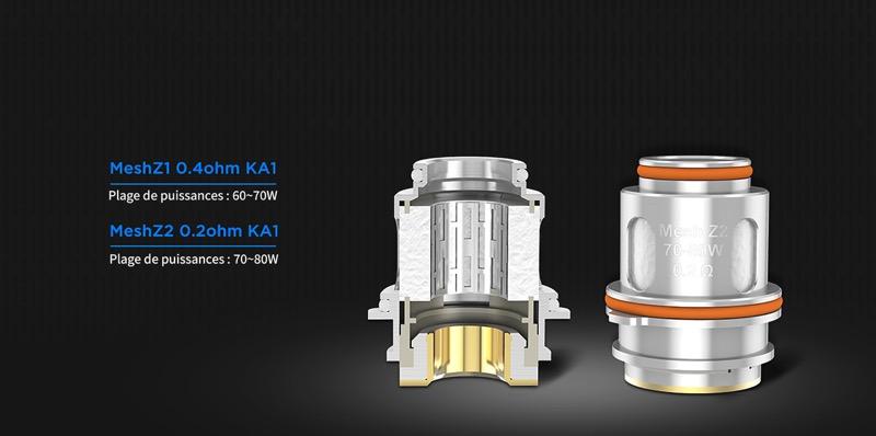 Les résistances du Zeus Sub Ohm sont fabriquées à partie de mesh KA1