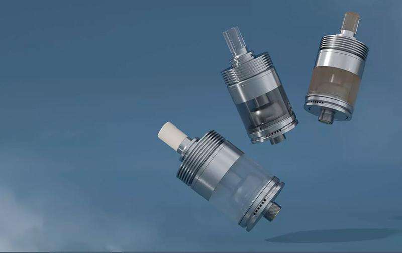 3 coloris de tank et de drip-tips sont proposés dans le kit