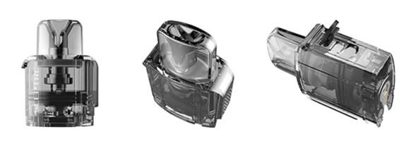 Le pod du Sceptre est fixé à la batterie par aimantation. Il permet le remplissage, le changement de résistance et le réglage de flux d'air